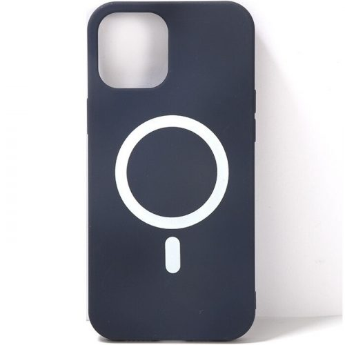 Apple iPhone 12 Pro, Szilikon tok, mágnes gyűrűvel, MagSafe töltővel kompatibilis, Wooze Magsafe Case, kék