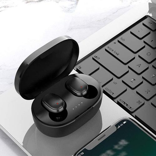 Bluetooth sztereó fülhallgató, v5.0, TWS, töltőtok, vezérlő gomb, zajszűrővel, vízálló, Wooze EarBuds Pro, kék