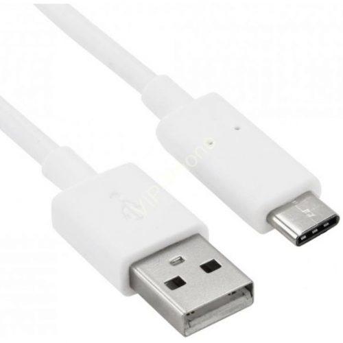 USB töltő- és adatkábel, USB Type-C, 200 cm, fehér
