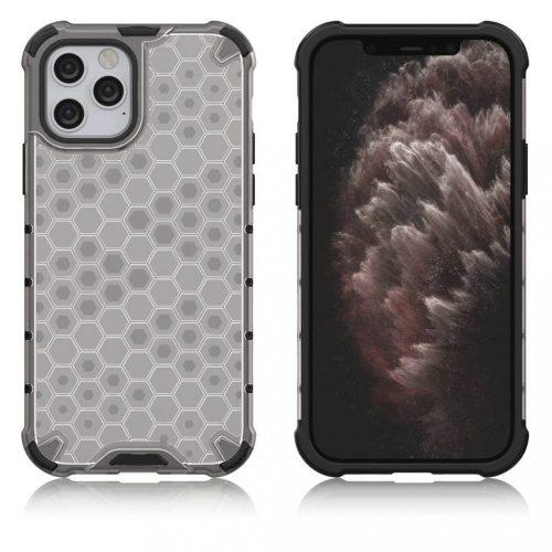 Samsung Galaxy A22 5G SM-A226B, Műanyag hátlap védőtok, közepesen ütésálló, légpárnás sarok, méhsejt minta, Wooze Honey, fehér