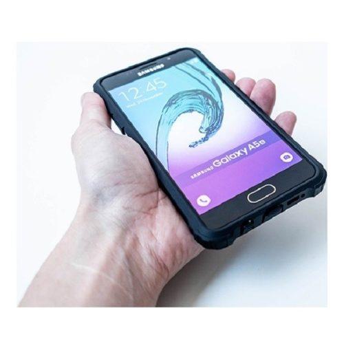 Huawei Honor 30, Műanyag hátlap védőtok, Defender, fémhatású, fekete