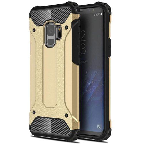 Huawei Honor 30, Műanyag hátlap védőtok, Defender, fémhatású, arany