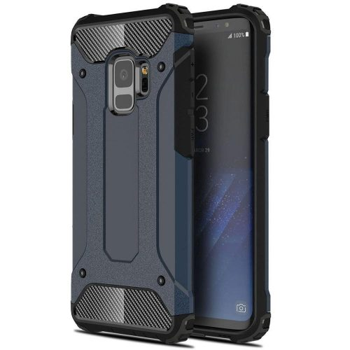 Huawei Honor 30, Műanyag hátlap védőtok, Defender, fémhatású, sötétkék