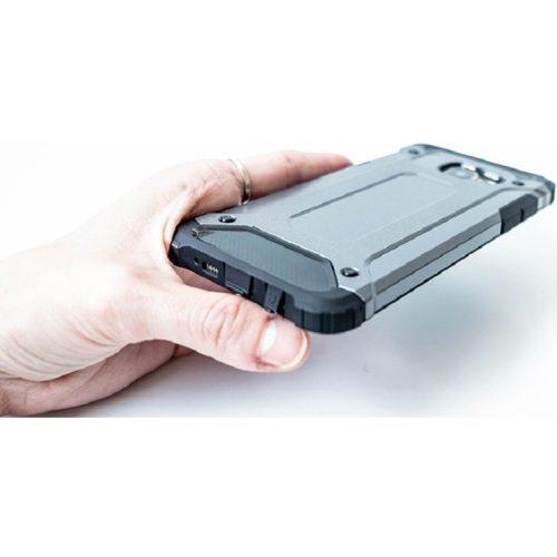 Huawei Honor 30S, Műanyag hátlap védőtok, Defender, fémhatású, ezüst