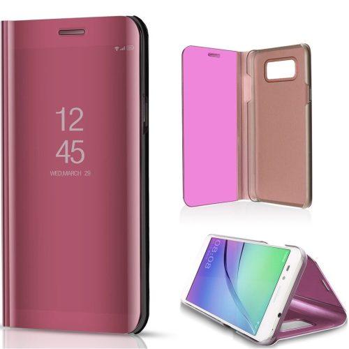 Huawei Honor 10X Lite, Oldalra nyíló tok, hívás mutatóval, Smart View Cover, vörösarany (utángyártott)