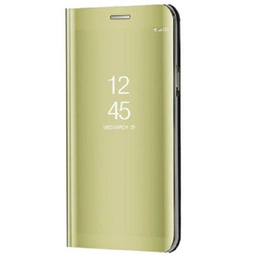 Huawei Honor 30, Oldalra nyíló tok, hívás mutatóval, Smart View Cover, arany (utángyártott)
