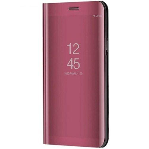 Huawei Honor 30S, Oldalra nyíló tok, hívás mutatóval, Smart View Cover, vörösarany (utángyártott)