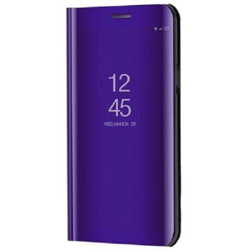 Huawei Honor 30S, Oldalra nyíló tok, hívás mutatóval, Smart View Cover, lila (utángyártott)
