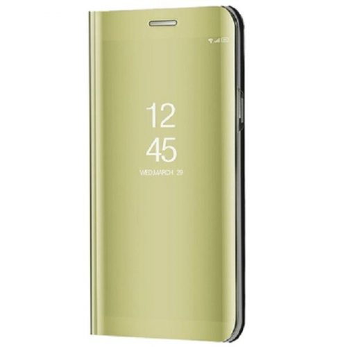Huawei Honor 30 Pro / 30 Pro Plus, Oldalra nyíló tok, hívás mutatóval, Smart View Cover, arany (utángyártott)
