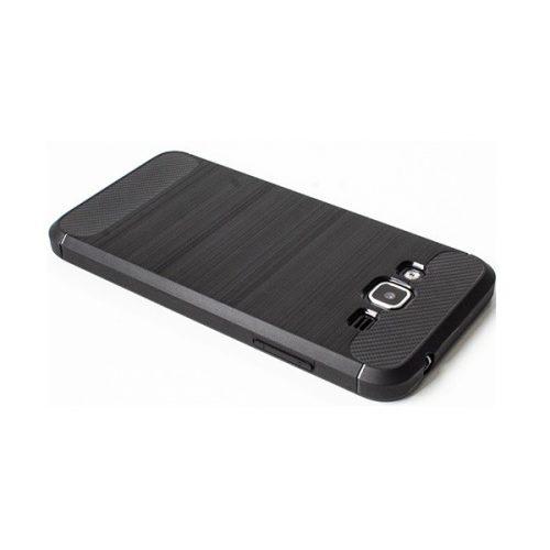 Xiaomi Redmi Note 10 5G, Szilikon tok, közepesen ütésálló, szálcsiszolt, karbon minta, fekete