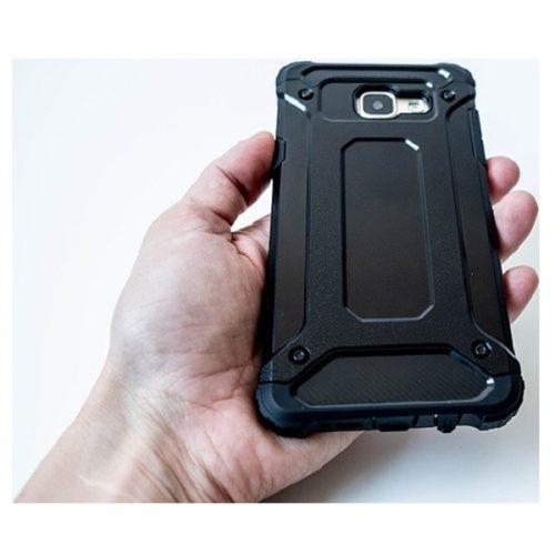 Xiaomi Redmi 10X 5G / 10X Pro 5G, Műanyag hátlap védőtok, Defender, fémhatású, fekete