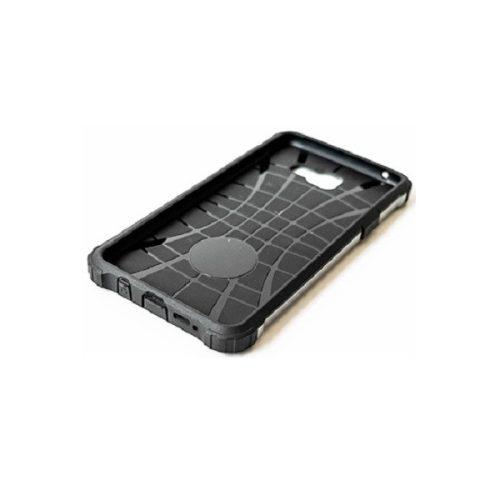 Xiaomi Redmi Note 10 5G, Műanyag hátlap védőtok, Defender, fémhatású, ezüst