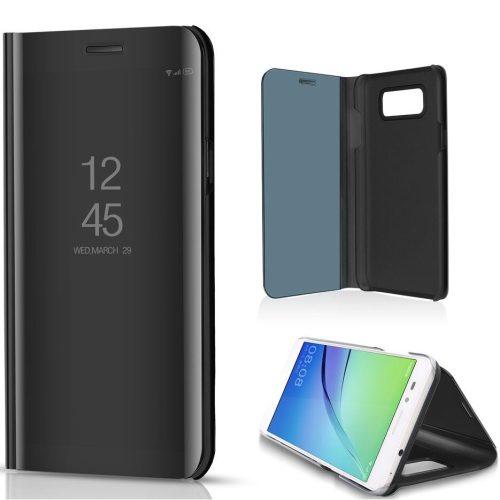 Xiaomi Redmi 10X 5G / 10X Pro 5G, Oldalra nyíló tok, hívás mutatóval, Smart View Cover, fekete (utángyártott)