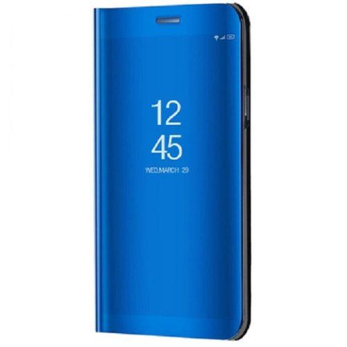 Xiaomi Redmi 10X 5G / 10X Pro 5G, Oldalra nyíló tok, hívás mutatóval, Smart View Cover, kék (utángyártott)