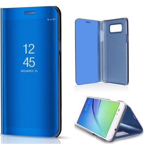 Xiaomi Redmi Note 10 5G, Oldalra nyíló tok, hívás mutatóval, Smart View Cover, kék (utángyártott)