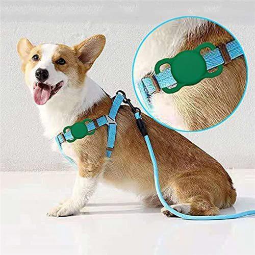 Apple AirTag szilikon tok, nyakörvre helyezhető, Wooze AirTag Pet Guard, kék