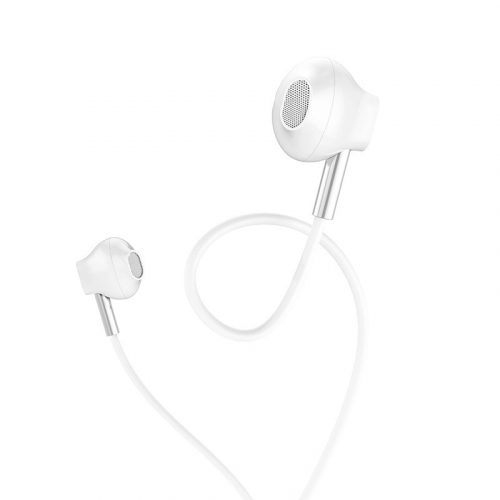 Vezetékes sztereó fülhallgató, 3.5 mm, mikrofon, funkció gomb, Hoco M57 Sky Sound, fehér