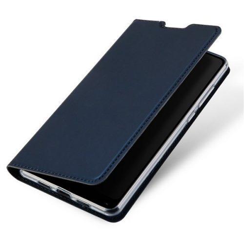 Apple iPhone XS Max, Oldalra nyíló tok, stand, Dux Ducis, sötétkék