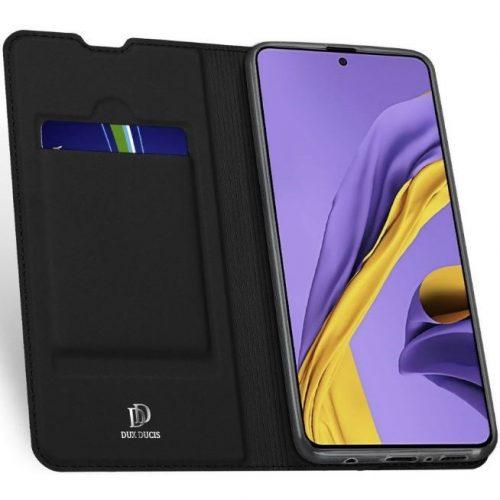 Huawei Honor 20 / 20S / Nova 5T, Oldalra nyíló tok, stand, Dux Ducis, fekete