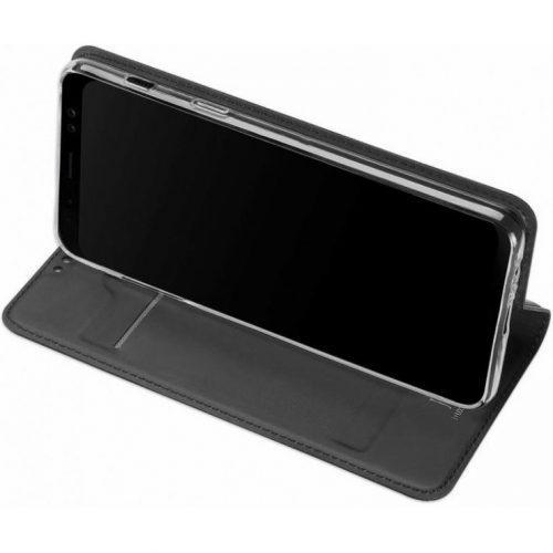 Huawei Honor 30, Oldalra nyíló tok, stand, Dux Ducis, sötétszürke