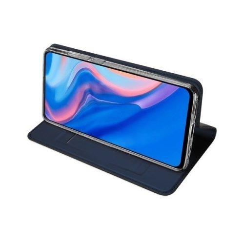 Huawei Mate 20 Lite, Oldalra nyíló tok, stand, Dux Ducis, sötétkék