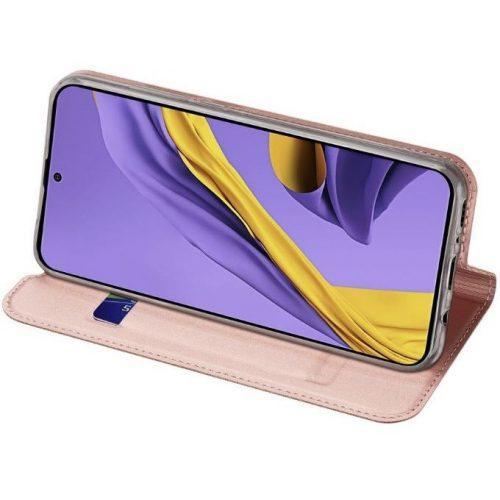 Huawei Mate 20 Lite, Oldalra nyíló tok, stand, Dux Ducis, vörösarany
