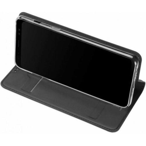 Huawei Mate 30 / 30 5G, Oldalra nyíló tok, stand, Dux Ducis, sötétszürke