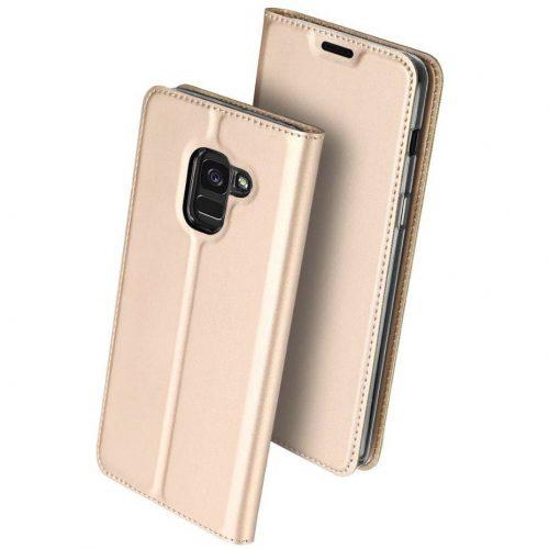 Huawei Mate 30 Pro / 30 Pro 5G, Oldalra nyíló tok, stand, Dux Ducis, arany