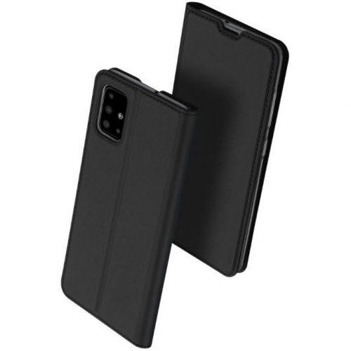 Huawei Mate 30 Lite, Oldalra nyíló tok, stand, Dux Ducis, fekete