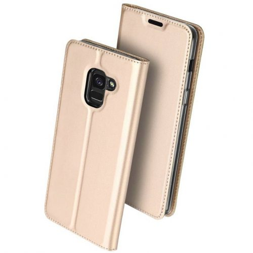 Huawei Mate 30 Lite, Oldalra nyíló tok, stand, Dux Ducis, arany