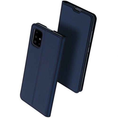 Huawei Mate 30 Lite, Oldalra nyíló tok, stand, Dux Ducis, sötétkék