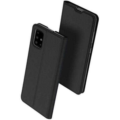 Huawei P30 Lite, Oldalra nyíló tok, stand, Dux Ducis, fekete