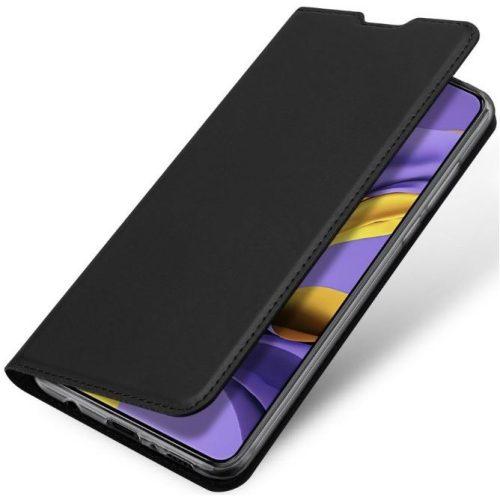 Huawei P30, Oldalra nyíló tok, stand, Dux Ducis, fekete