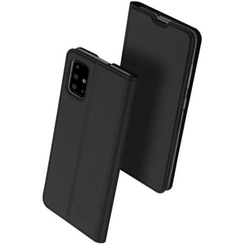 Huawei P40 Lite 5G, Oldalra nyíló tok, stand, Dux Ducis, fekete