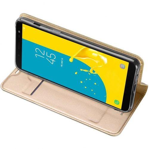 Huawei P40 Lite, Oldalra nyíló tok, stand, Dux Ducis, arany