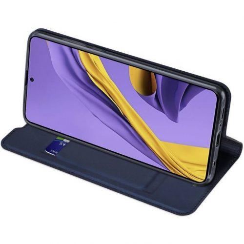 Huawei P40, Oldalra nyíló tok, stand, Dux Ducis, fekete