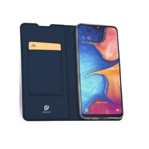 Huawei P Smart (2021), Oldalra nyíló tok, stand, Dux Ducis, sötétkék