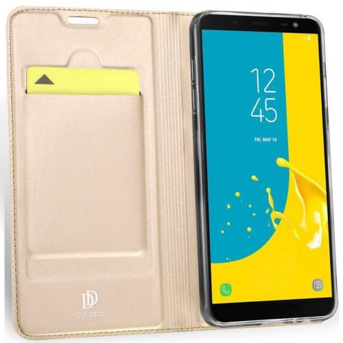 Huawei Y6p, Oldalra nyíló tok, stand, Dux Ducis, arany