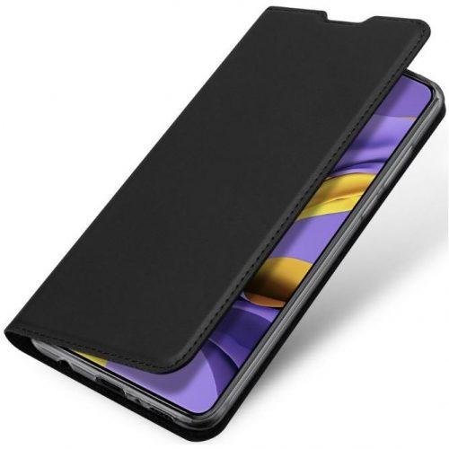 Huawei Y6p, Oldalra nyíló tok, stand, Dux Ducis, fekete