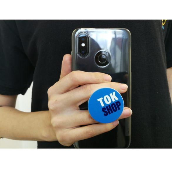 All-In tartó, telefonhoz, Tok-Shop minta, kék/fehér
