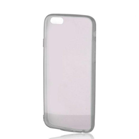 Samsung Galaxy J1 SM-J100F, Műanyag hátlap védőtok + szilikon védőkeret, Outline, hamuszürke