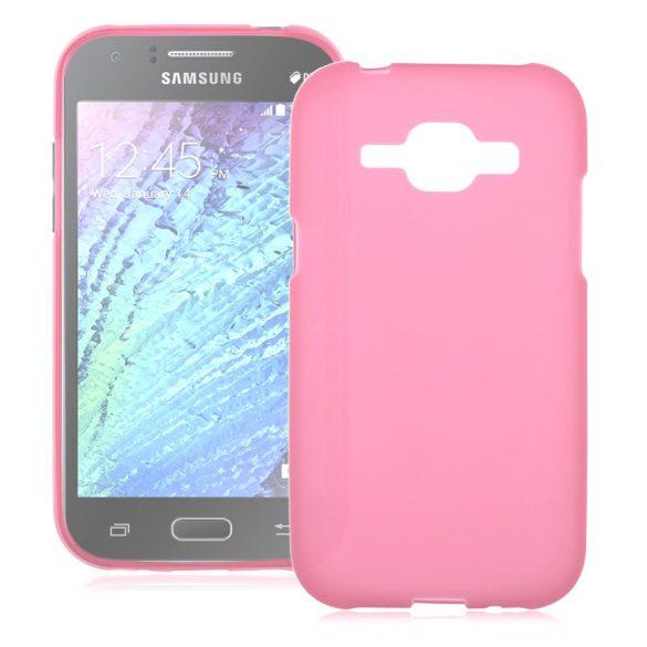Samsung Galaxy J1 SM-J100F, TPU szilikon tok, ciklámen