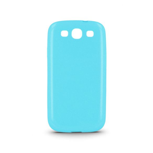 Samsung Galaxy J1 SM-J100F, TPU szilikon tok, ultravékony, csillámporos, kék