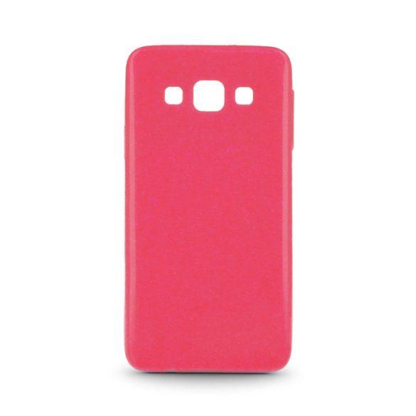 Samsung Galaxy J1 SM-J100F, TPU szilikon tok, ultravékony, csillámporos, pink