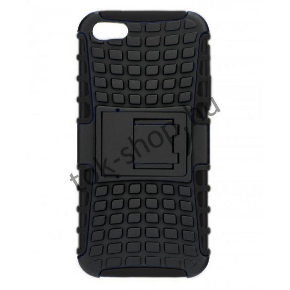 Samsung Galaxy J2 (2016) SM-J210F, Műanyag hátlap védőtok, ütésálló, kitámasztóval, Forcell Panzer Case, fekete