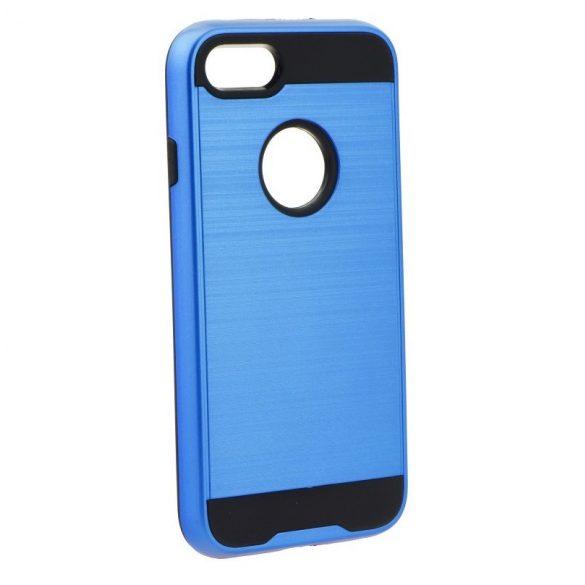Samsung Galaxy J2 (2016) SM-J210F, Műanyag hátlap védőtok, ütésálló, Forcell Panzer Moto Case, kék
