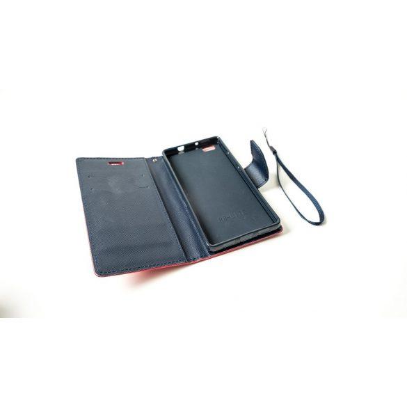 Huawei Nova Plus, Oldalra nyíló tok, stand, Fancy Book, piros