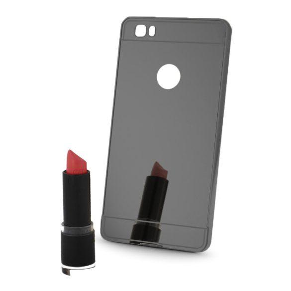 Huawei Honor 5X, Alumínium hátlap védőtok, tükröződő felület, Metal Mirror, sötétszürke