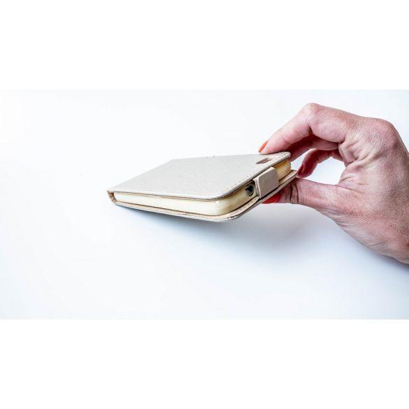 LG X Power, Forcell lenyitható bőrtok, Slim Flexi, felfelé nyíló - kinyitható, arany