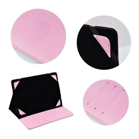"""Univerzális TabletPC tok, mappa tok, 7"""", stand, Blun, rózsaszín"""
